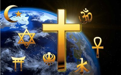 What is the primary difference between Christianity and all other world religions?