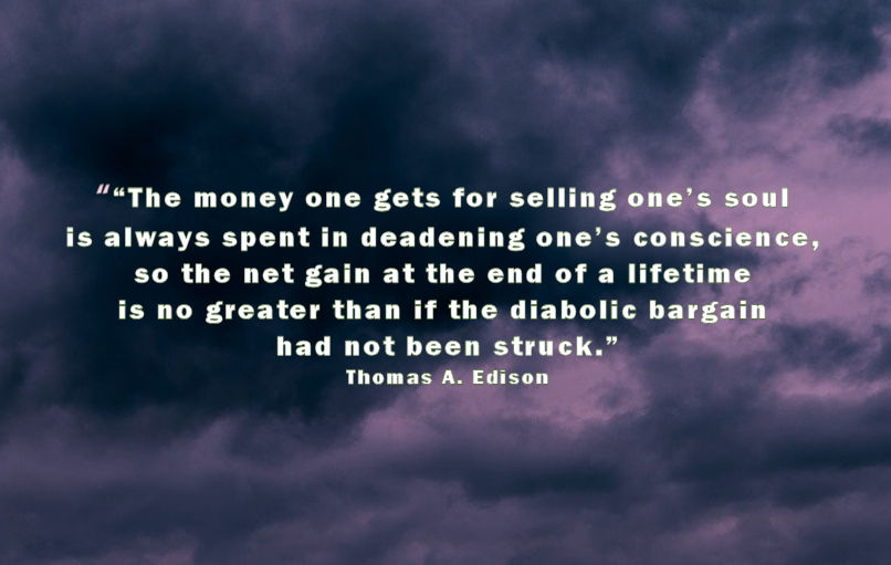 What does it mean to sell your soul?